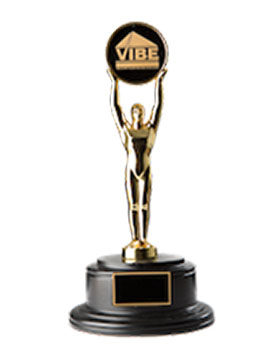 VIBE awards trophy