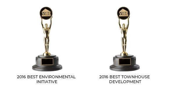2018 VIBE (Vancouver Island Building Excellence) awards trophies