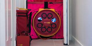 Energy efficient door blower system